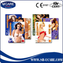 Practical high grade multiple sex condom with good packing