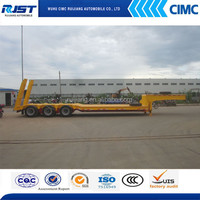 CIMC 60T Lowbed Machinery Transport Truck