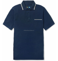 Navy Blue Plain Blank Polo Shirts with Left Pocket