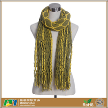 Women Fashion Exclusive Design Cable Knit Crochet Scarf Shawls