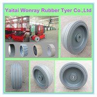 Aerial lift platform tyres aftermarket solid rubber tyre wheel tire 10x3 10x4