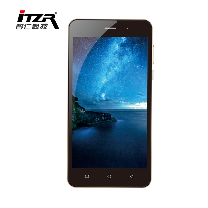 China lowest price ITZR phone 5.0 inch SC9832 quad core Android cell phone, smartphone