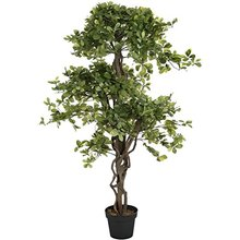 Aquarium plastic indoor ornamental durable pachira money tree plant