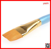 YASHI flat synthetic hair oil artist drawing brush