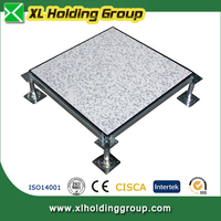 different top tiles elegant surface Antistatic steel raised flooring for data center