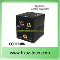 Digital Toslink Optical / Coaxial to Analogue Phono Audio Converter