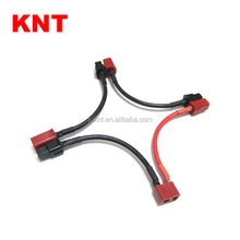 KNT T Plug Battery Harness For 3 Packs in Series Battery Connector Deans Female to 4mm Anderson Male Adapter