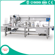 ice cream cup filling and sealing machine
