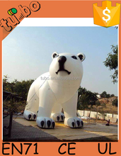 2015 hot selling cheap custom gain outdoor inflatable christmas polar bear for advertising