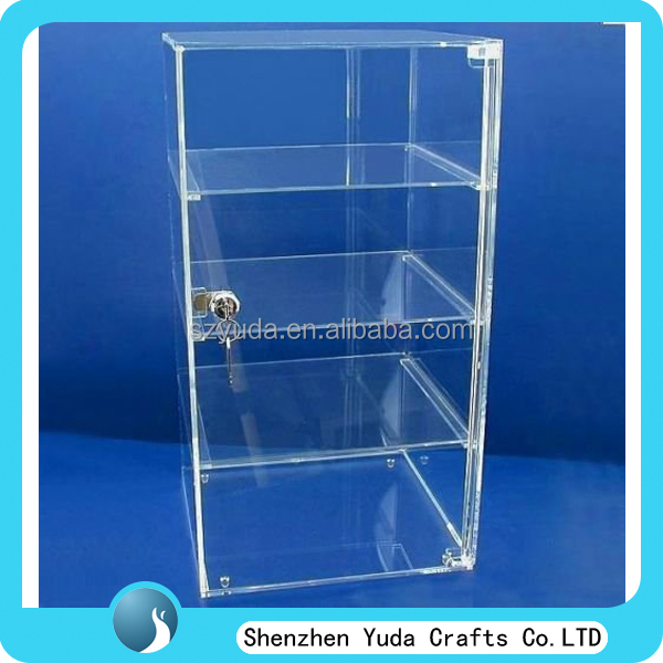 Acrylic bakery donuts cupcake cabinet clear pastry display case for sale