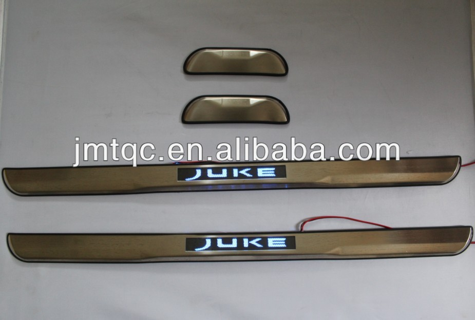 high quality !!!! door sill plate with led for nissan juke