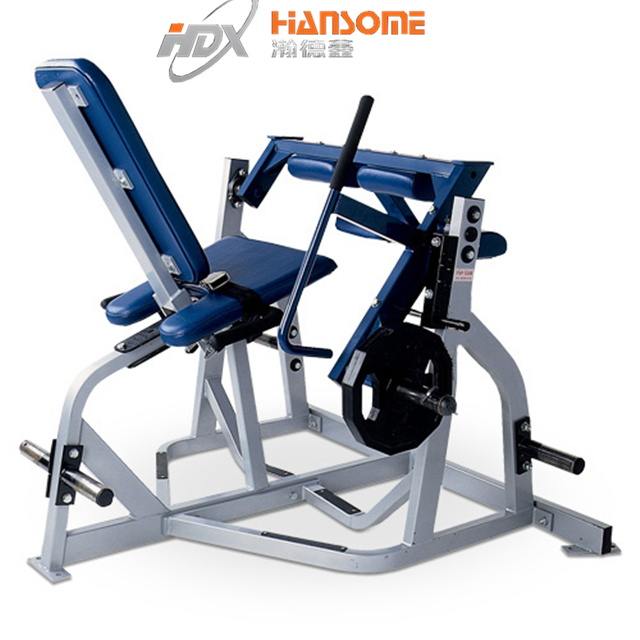 Hammer Strength commercial gym machine seated leg curl for bodybuilding