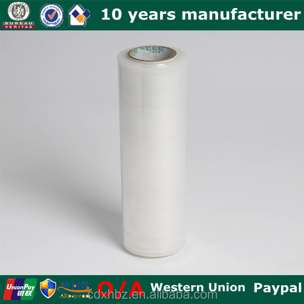 Xinhe pallet shrink wrap polyethylene transparent stretch film 12mic ~30mic rayon stretch wrap