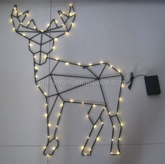 wire reindeer new 2016 christmas decoration copper rice led light