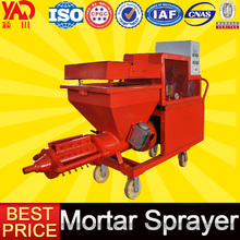 Automatic wall cement spray plaster machine in construction