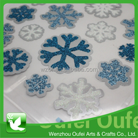15 foil glitter stickers of snow snowflakes shape for christmas holiday decorate