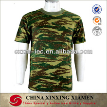 High Quality Greek Camouflage 100% Cotton Short Sleeve Army T-shirt