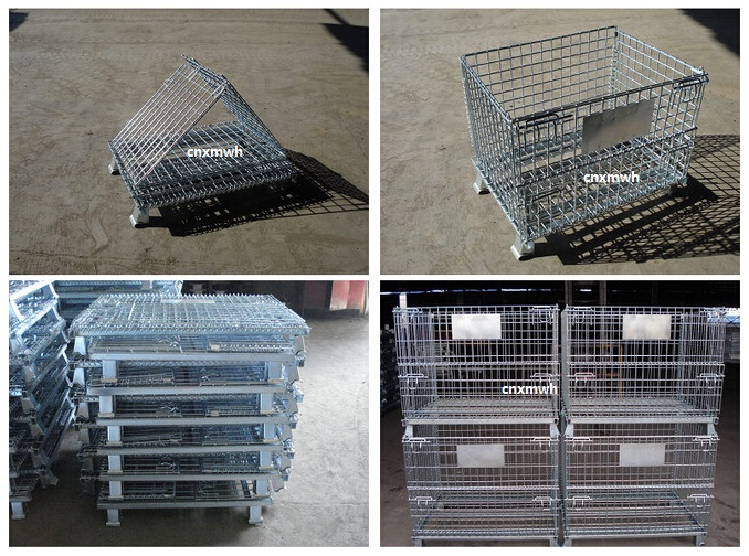 mesh box collapsible wire mesh pallet cage wire mesh container