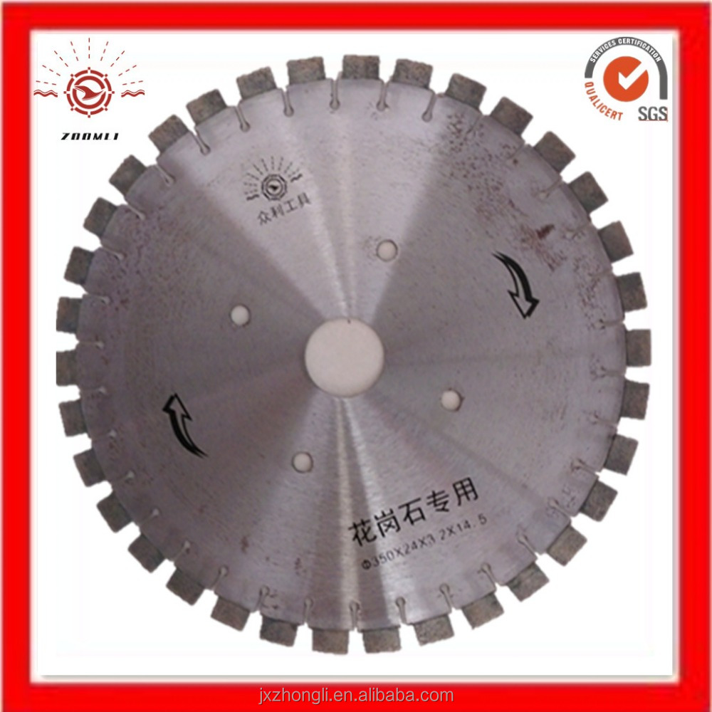 Durable diamond circular saw blade and table saw blade for cutting granite