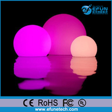 custom design solar powered rgb color led glow floating swimming pool balls