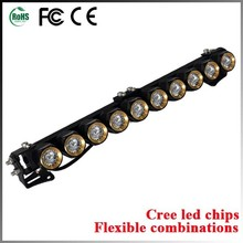 High power 4wd light bars 10w led work light bar with cree led light bar for utv