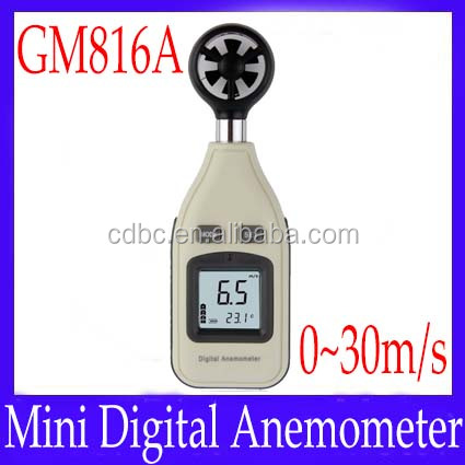 Digital Anemometer digital wind speed meter GM816A Air velocity 0.8~30m/s