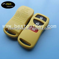 Top best 3 button keyless entry remote car key cover yellow for nissan blank key