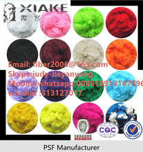 100% virgin 1.2d*38mm solid doped dyed polyester staple fiber manufacture