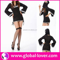 New arrival women black and white party costumes