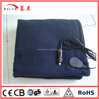 12v Portable Polar Fleece Heated Electric Throw Over Blanket for travel