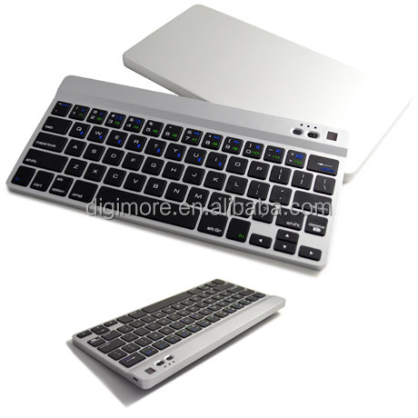 Multimedia Rechargeable Bluetooth Keyboard for Android Windows IOS Tablet PC, Portable Keyboard
