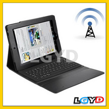 Hot Waterproof, Dustproof Bluetooth 3.0 Leather Case Keyboard for iPad 4 /for New iPad (for iPad 3)/bluetooth keyboard for ipad