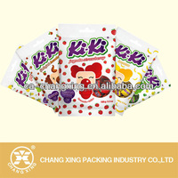 Back sealed plastic toffee bag pouch for toffee packaging