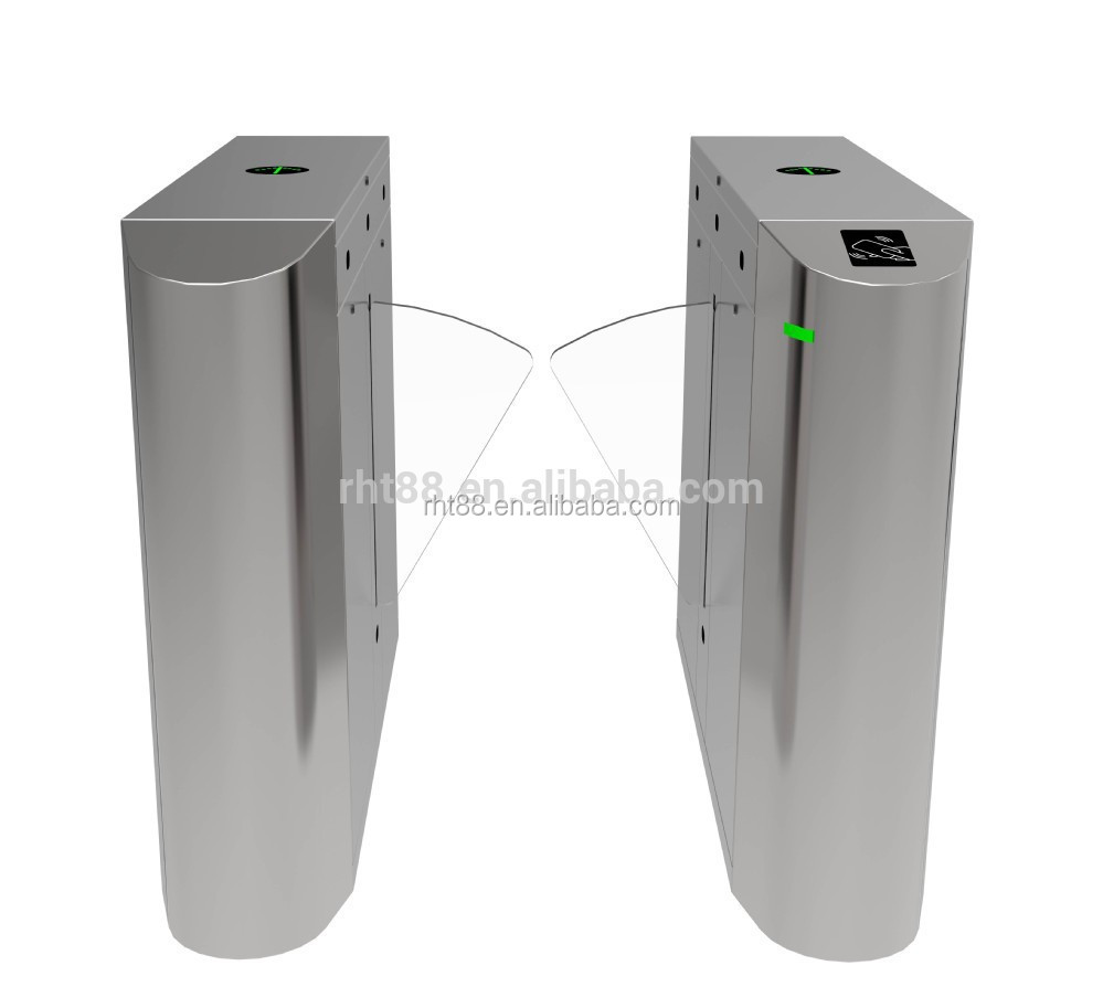 304 Stainless Steel Barrier Gate Widely Passage Security Gate Flap Turnstile