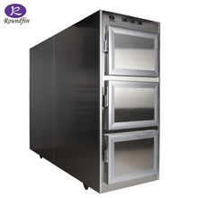 three bodies morgue refrigerator four doors mortuary chamber cold storage with full stainless steel