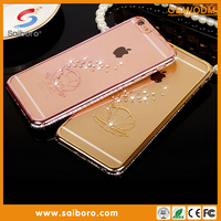 New design Luxury Diamond crystal bow bling phone crystal bling phone case case for iPhone 6