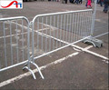 heavy duty steel crowd control barricade/bridge feet barrier