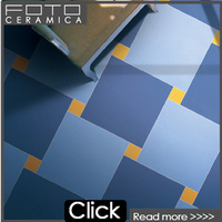 Blue color glazed polished matte porcelain vinyl floor tiles designs spain style 60x60