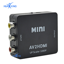 High Quality RCA AV Male to HDMI Female Converter Adapter Full HD 1080P Mini Composite CVBS to HDMI AV2HDMI Audio Converter