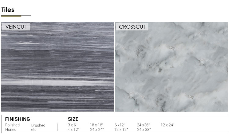 Natural Stone Polish Mosaic Tile Gray Marble For Interior Floor And Wall Decor