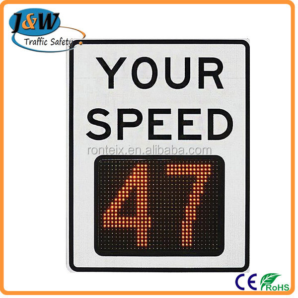 Perfect Quality Solar Powered Radar Speed Limit Traffic Control Sign
