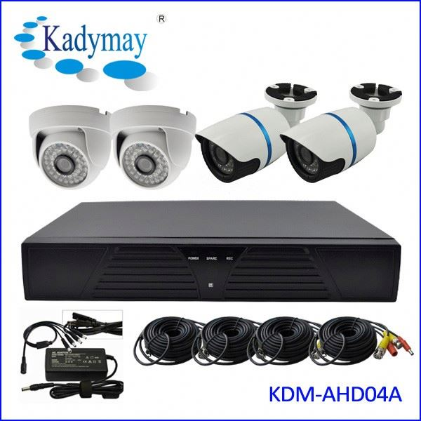 High Resolution and low price 1megapixels 4CH HD cheap home security camera systems