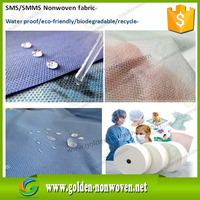 sms hydrophobic nonwoven fabric/smms non-woven fabric, sss non woven medical fabric