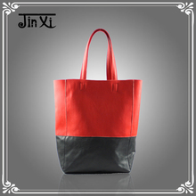 Korea Fashion Collision color women leather bag handbag