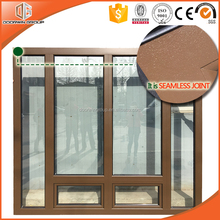 Cheap price aluminum wood framed glass windows and doors design with thermal break