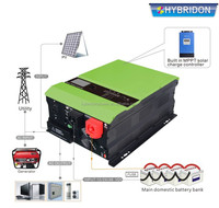 off grid solar inverter 10kw dc to ac pure sine wave output power