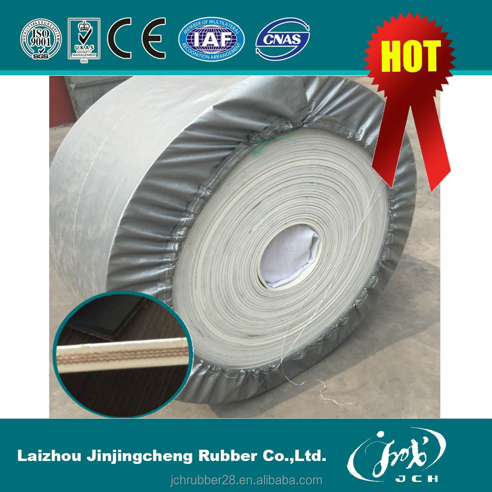 Wholesale Price FDA Standard Oil resistant Fire Retardant White Color Food Rubber Conveyor Belt Rubber Belt