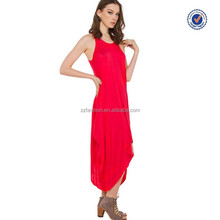 Innovative best sell casual bright red throwback drape coral dresses below the knee