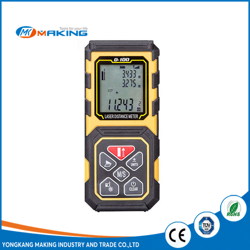 D-100 Yellow Professional Digital laser Distance Meter 100m prices