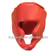red PU boxing helmet for martial arts
